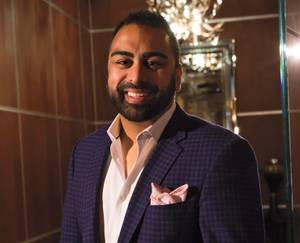 It's Anup Patel's job to ensure guests have a good time at the Bellagio nightclub.