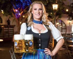 Bartender adds to the Hofbräuhaus experience.