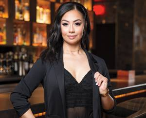 She's a woman of many talents, and currently tends bar at MB Steak at the Hard Rock Hotel.