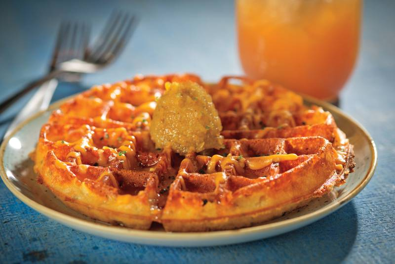 Cheddar waffle at Yardbird Southern Table & Bar